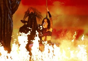 """Katy Perry performs """"Dark Horse"""" at the 56th annual Grammy Awards in Los Angeles"""