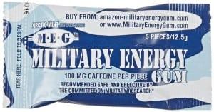 Military Caffeine Gum