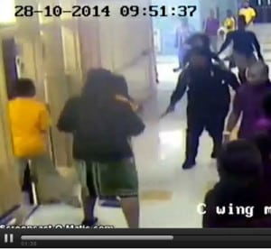 policewoman school beating