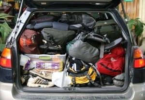 prepper car packing