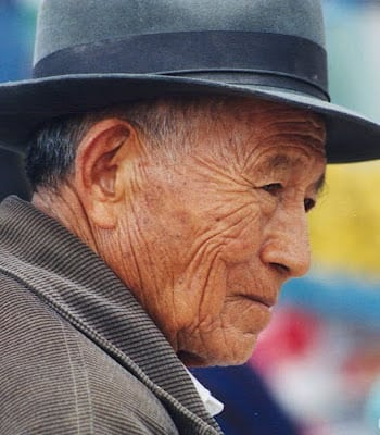 Elderly man from EcuadorThe Andes shunya.net