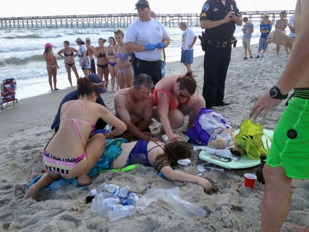 north carolina shark attack