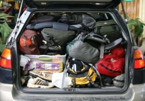 prepper car packing